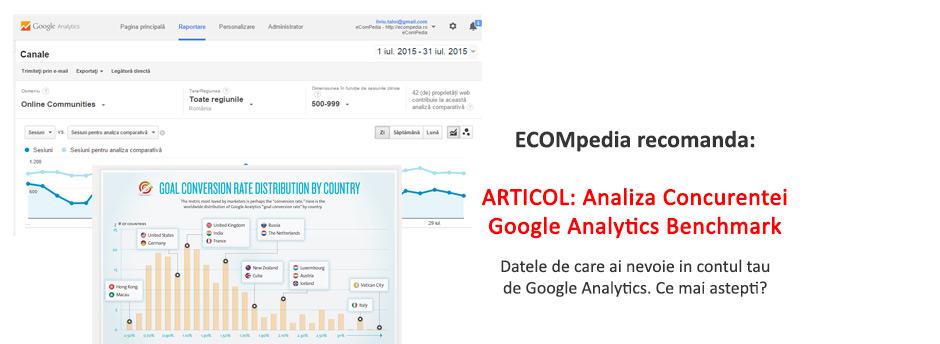 Analiza Concurentei – Google Analytics Benchmark