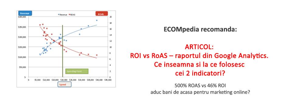 ROI vs RoAS – raportul din Google Analytics. Ce inseamna si la ce folosesc cei 2 indicatori?