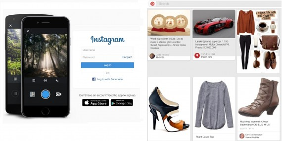 intagram vs pinterest
