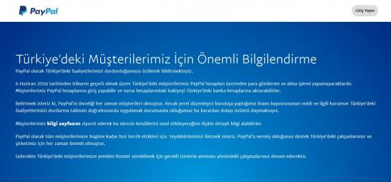 PayPal Turkey