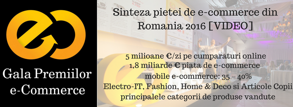 GpeC: Sinteza pietei de e-commerce din Romania 2016 [VIDEO]