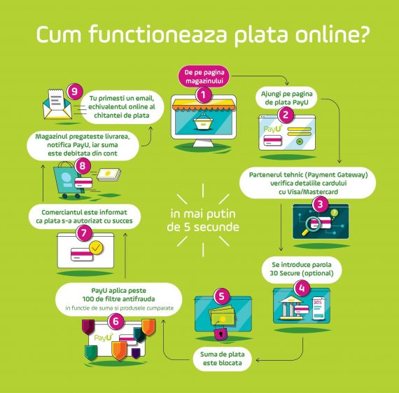 Cum functioneaza plata online