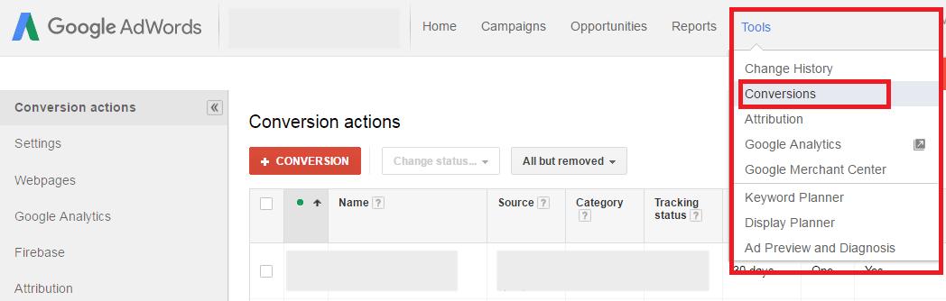 AdWords-Conversion-Setup