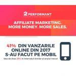 Romania: in 2017, comertul mobile a crescut cu 64% YoY (infografic)