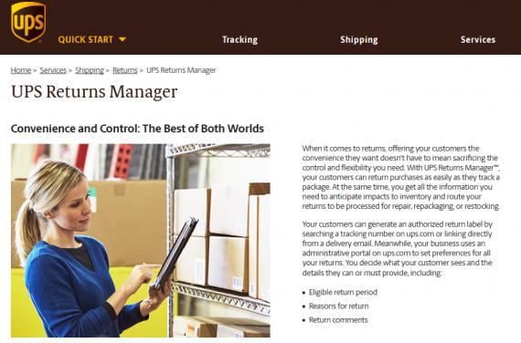 UPS returns manager
