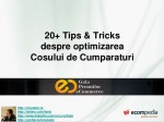 Checkout Optimization @Scoala de Vara de Comert Electronic GPeC 2013