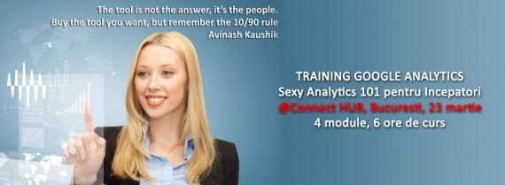 Sexy Analytics 101 pentru Incepatori, 23 Martie 2015 @ Connect HUB, Bucuresti