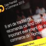 Peste 120 de magazine online participa la Gala Premiilor e-Commerce 2013