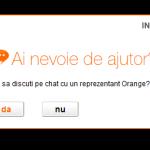 Comunicat: Orange ofera consultanta prin chat in magazinul online