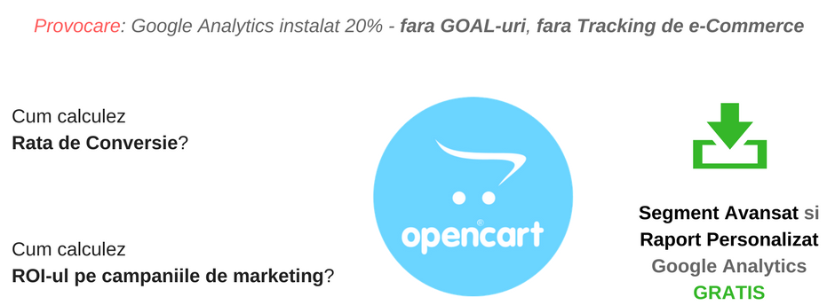 Cum aflu Rata de Conversie si ROI-ul intr-un magazin online pe OpenCart? Raport si Segment GRATIS!