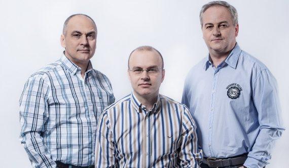 Felix Pătrășcanu, Adrian Mihai, Neculai Mihai, fondatorii FAN Courier