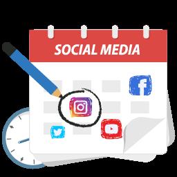 calendar social media 2018
