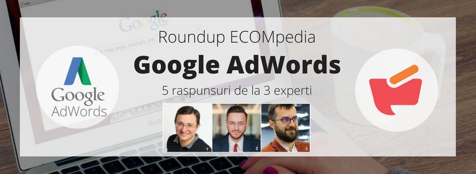 Roundup ECOMpedia: AdWords – 5 raspunsuri de la 3 experti