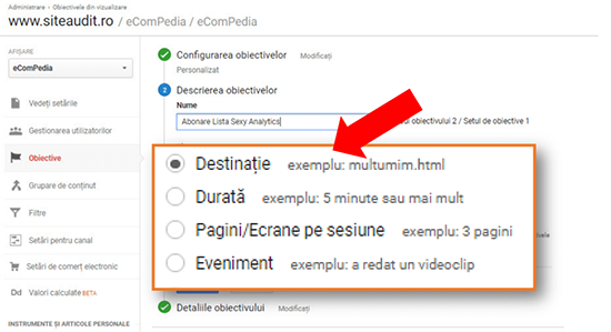 cum-setam-corect-un-goal-ecompedia