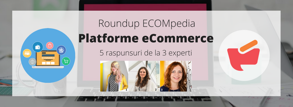 Roundup ECOMpedia: platforme e-commerce – 5 raspunsuri de la 3 experti (I)