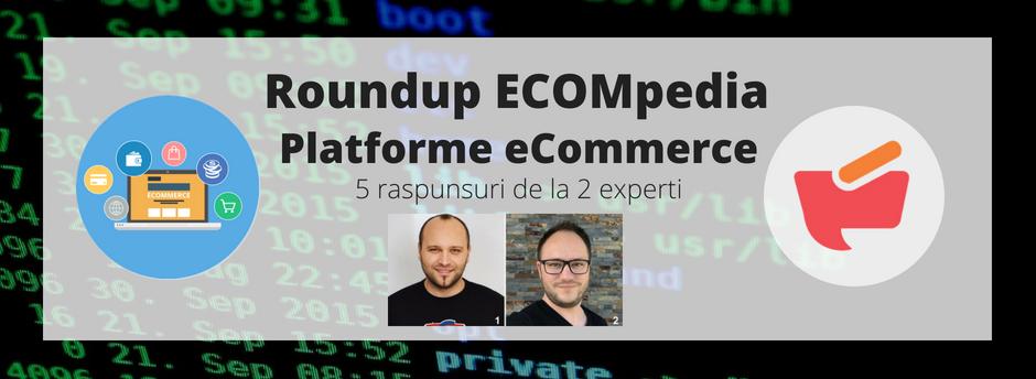 Roundup ECOMpedia: platforme e-commerce – 5 raspunsuri de la 2 experti (VI)