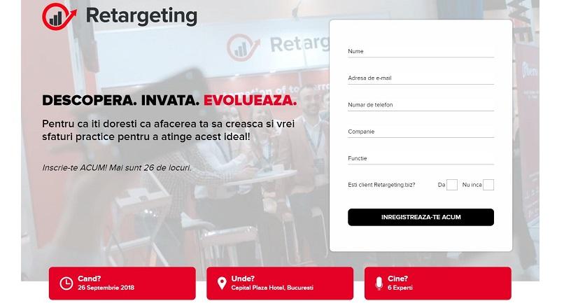 Retargeting.biz organizeaza Meet Retargeting (26 septembrie, Bucuresti)