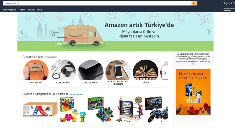 S-a lansat un site local Amazon, in Turcia
