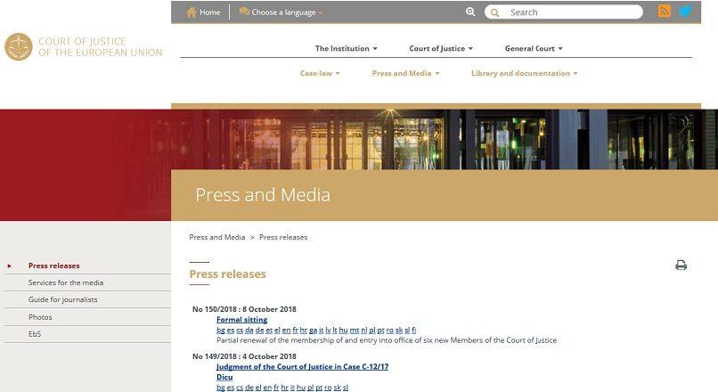 """Curtea de Justitie a UE defineste calitatea de """"comerciant online"""""""