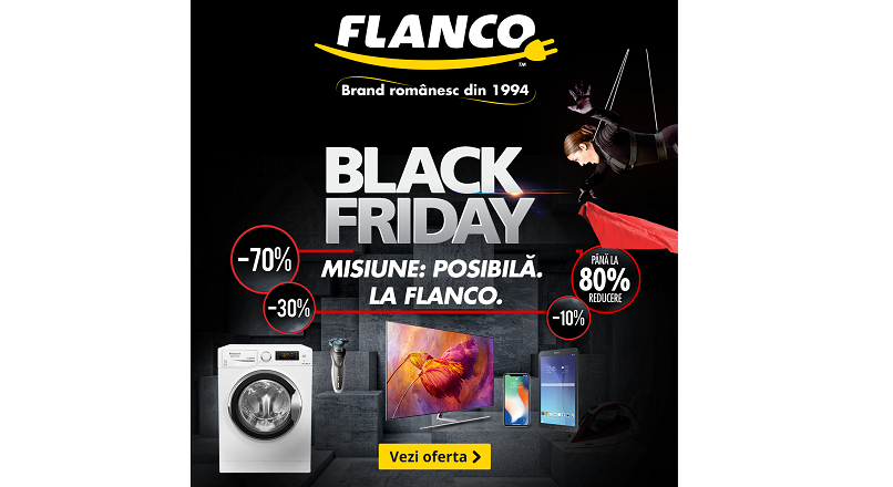 Black Friday 2018: Flanco.ro da start la reduceri pe 26 octombrie