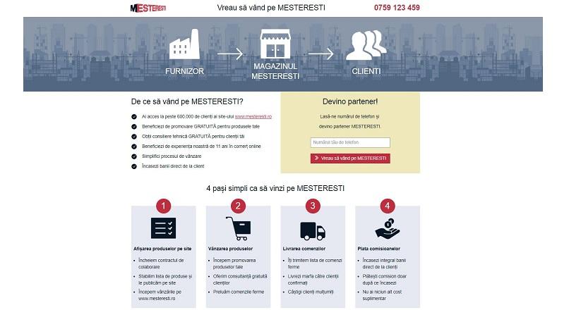 Mesteresti.ro devine marketplace de materiale de constructii