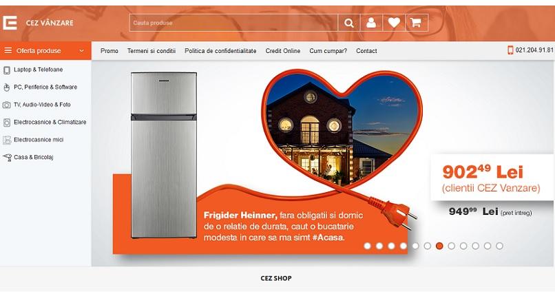 CEZ Vanzare si-a lansat magazine online de electrocasnice