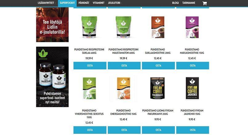 Lidl vinde produse sanatoase online, in Finlanda