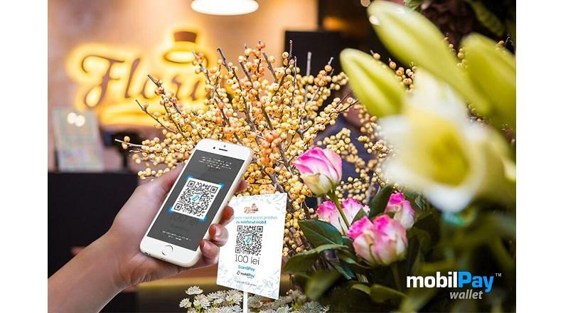 Nou: clientii Floria pot plati in magazin, prin QR code si mobilPay Wallet