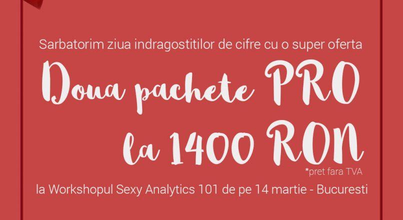 Sarbatorim indragostitii de cifre cu reduceri la Workshopul Sexy Analytics