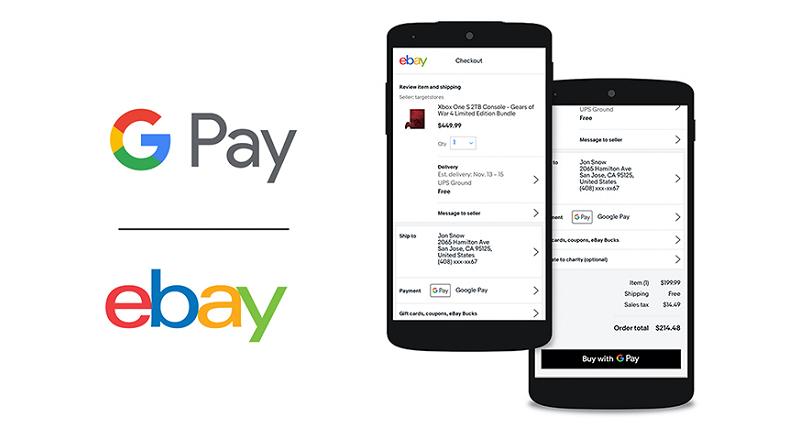 eBay.com va permite, din aprilie, plata prin Google Pay