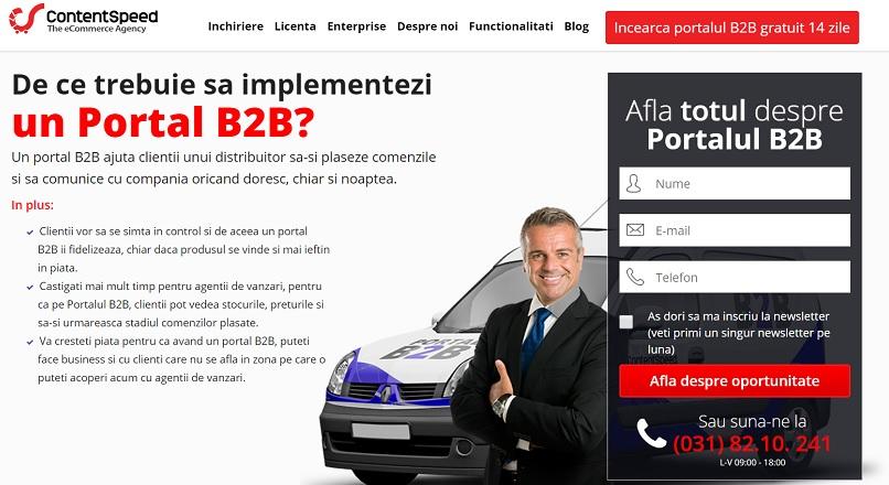 ContentSpeed a lansat Portal B2B, prima platforma e-commerce pentru distribuitori