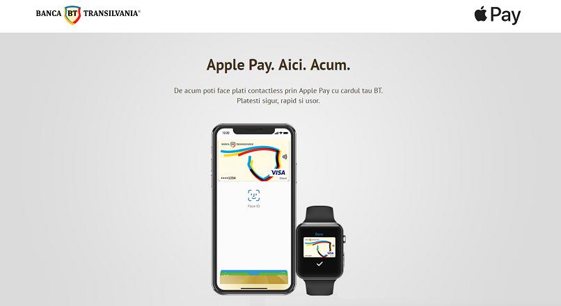 Banca Transilvania: peste 50.000 de carduri, inscrise in Apple Pay, din iunie