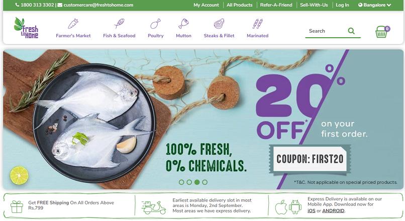 India: 20 milioane $, investiti in platforma e-commerce alimentara FreshToHome