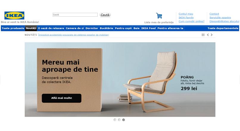 Romania este tara in care IKEA vinde online cel mai bine
