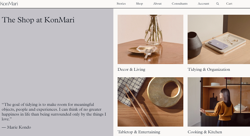 Marie Kondo si-a deschis un magazin online – shop.konmari.com
