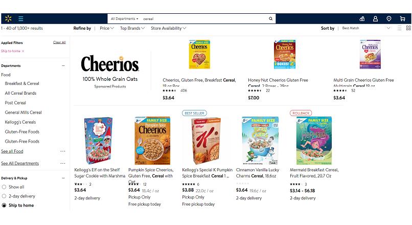 SUA: vanzarile online Walmart au crescut cu 41%, gratie livrarilor de alimente