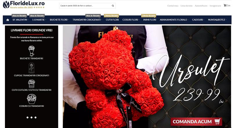 Floridelux.ro: vanzarile online de flori, +15% de Ziua Indragostitilor 2020