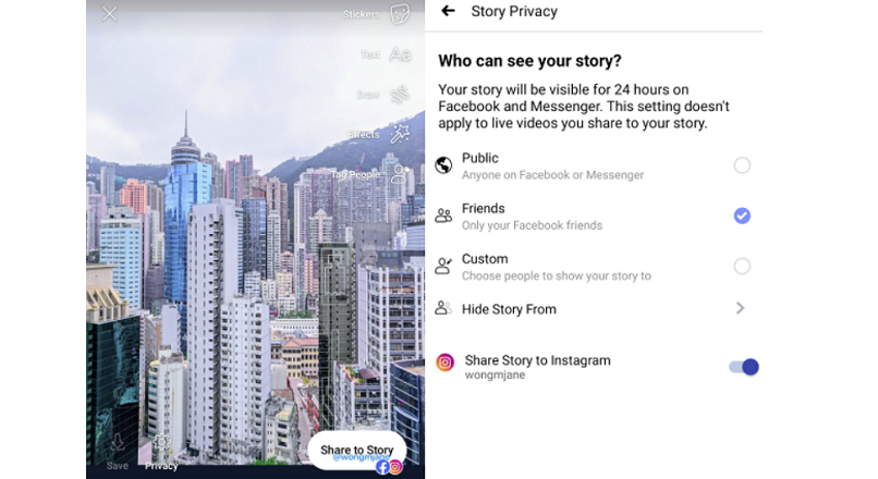 Facebook testeaza o noua optiune de cross-post cu Instagram