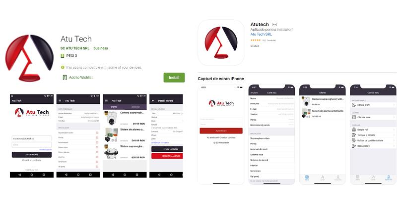 A2t.ro a lansat o aplicatie de legatura instalatori-clienti, pentru sisteme de securitate