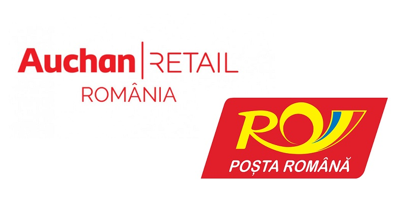Auchan livreaza comenzi online prin Posta Romana