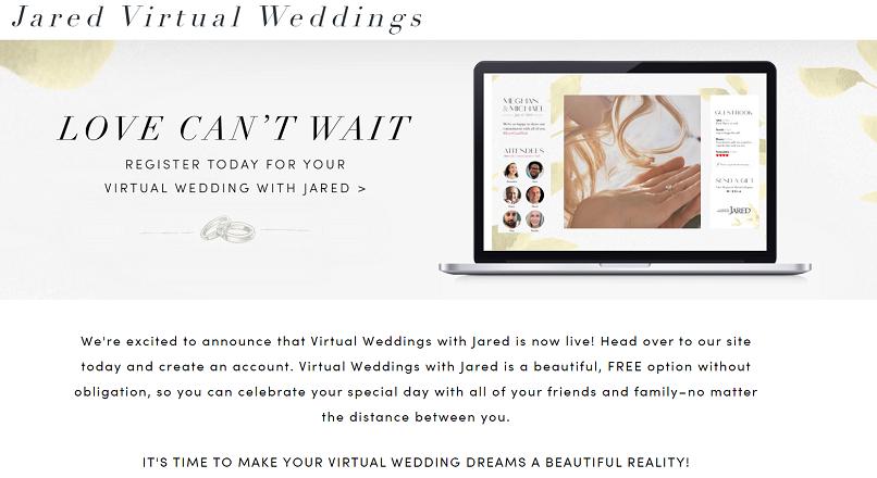 COVID-19: un site de bijuterii atrage clientii cu nunti virtuale gratuite