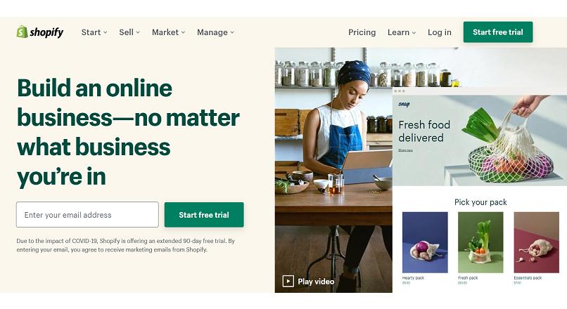 COVID-19: Shopify pune accentul pe livrarea de alimente online