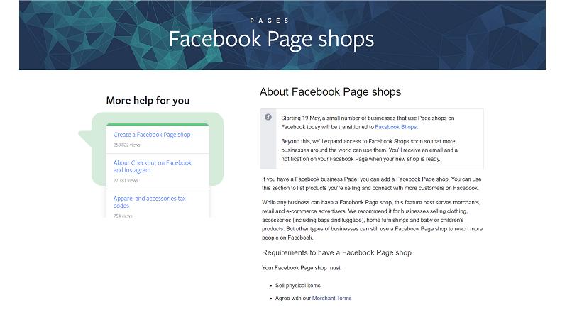 Facebook Shops pentru afacerile online mici, intre pro si contra