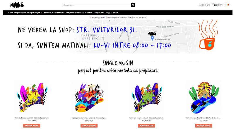 S-a lansat mabo.coffee, magazin online de cafea de specialitate