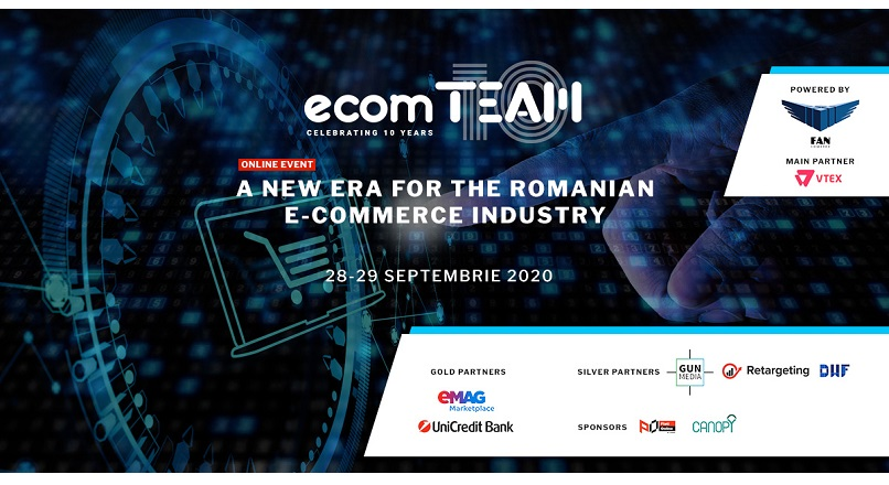 ecomTEAM 2020 (28-29 septembrie): afla ultimele tendinte e-commerce, de la 12 speakeri de top