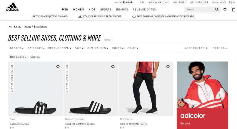 Actiunile Adidas arata bine datorita vanzarilor online
