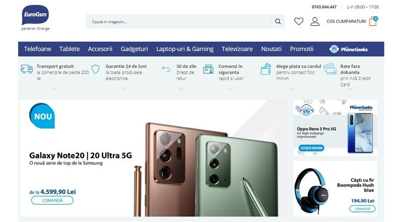 EuroGsm.ro: crestere a comenzilor online de 40% YoY, in august 2020