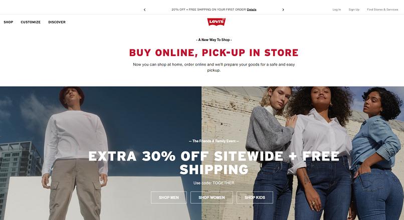 Vanzarile online ale brand-ului Levi au crescut cu 52%, in iunie-august 2020