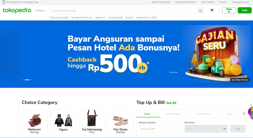 Google a investit in marketplace-ul indonezian Tokopedia.com