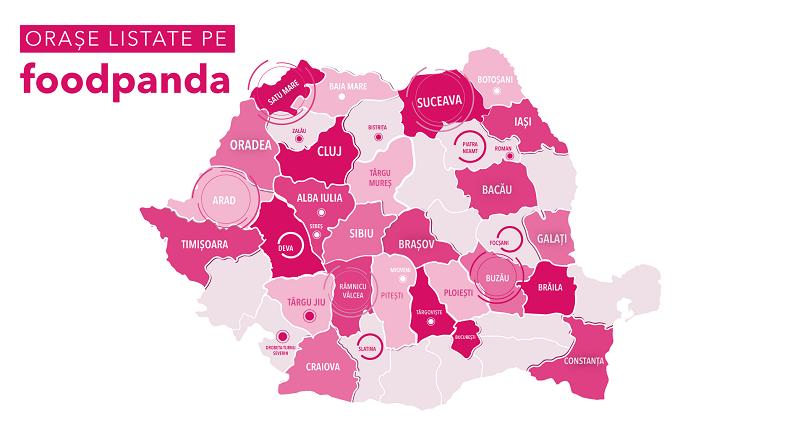 Pana la final de 2020, foodpanda va opera in 38 de orase din Romania